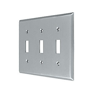 Deltana SWP4763U26D Switch Plate, Triple Standard, Brushed Chrome (Each)