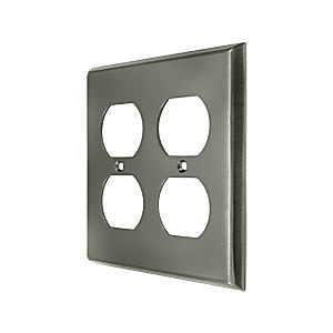 Deltana SWP4771U15A Switch Plate, Quadruple Outlet, Antique Nickel (Each)