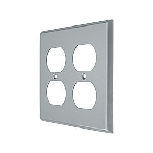Deltana SWP4771U26D Switch Plate, Quadruple Outlet, Brushed Chrome (Each)