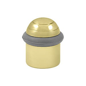 "Deltana UFBD4505U3 Round Universal Floor Bumper Dome Cap 1-1/2"", Polished Brass (Each)"