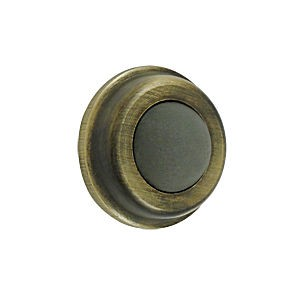 "Deltana WB100U5 Flush Bumper 1"" Diameter, Antique Brass (Each)"