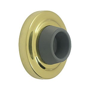 Deltana WB238U3 Concave Flush Bumper 2-3/8 Diameter, Polished Brass (Each)