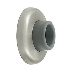 Deltana WB250U15 Wall Mount Concave Flush Bumper, 2-1/2 Diameter, Satin Nickel (Each)