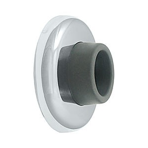 Deltana WB250U26 Wall Mount Concave Flush Bumper, 2-1/2 Diameter, Chrome (Each)