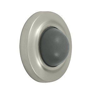 Deltana WBC238U15 Convex Flush Bumper 2-3/8 Diameter, Satin Nickel (Each)