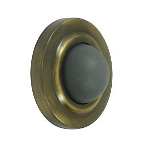 Deltana WBC238U5 Convex Flush Bumper 2-3/8 Diameter, Antique Brass (Each)