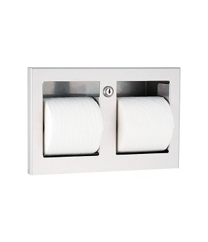 Gamco TTD-9 Recessed Double Paper Holder