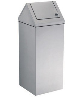 Gamco WR-11 Floor Standing Swing-Top Waste Receptacle. 13-gal.