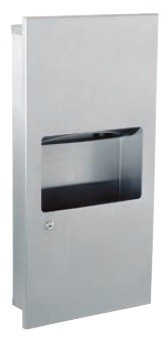 Gamco TW-8FS Coverall Towel Dispenser & Waste Receptacle Combination