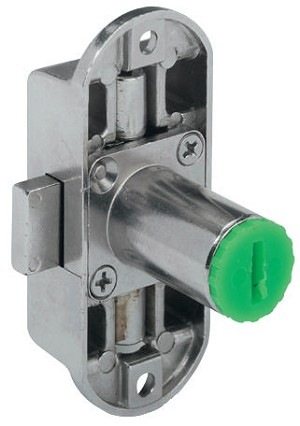 Hafele 224.64.600 Lock Symo Right Hand, Nickel-Plated
