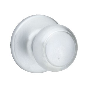 Kwikset 200 Cove Knob 6AL RCS, Satin Chrome