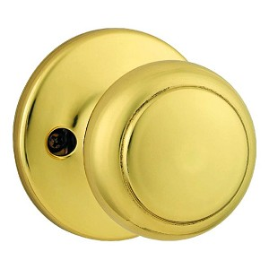 Kwikset 488 Cove Knob, Bright Brass