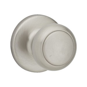 Kwikset 604 Cove Knob Single Cylinder Trim, Satin Nickel
