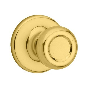 Kwikset 605 Tylo Home Knob Double Cylinder Trim, Bright Brass