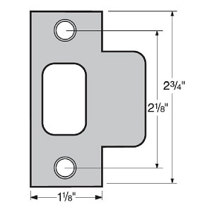 Kwikset 83028 Metal Jamb Strike, Satin Nickel