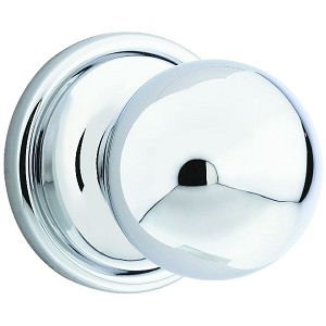 Kwikset 966 Circa Knob Single Cylinder Trim, Bright Chrome
