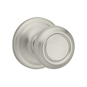 Kwikset 966 Cameron Knob Single Cylinder Trim, Satin Nickel