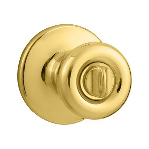 Kwikset 979 Tylo Home Knob SMT Double Cylinder Trim, Bright Brass