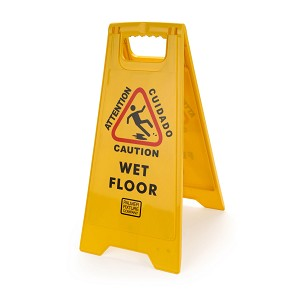 Palmer Fixture CS0701-19 Caution Wet Floor Sign 2-Sided