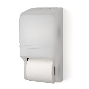 Palmer Fixture RD0025-03 Two-Roll Standard Tissue Dispenser White