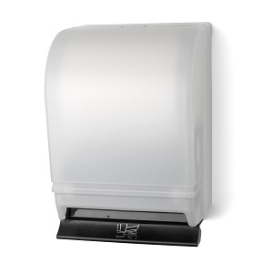 Palmer Fixture TD0215-03 Push Bar Roll Towel Dispenser White