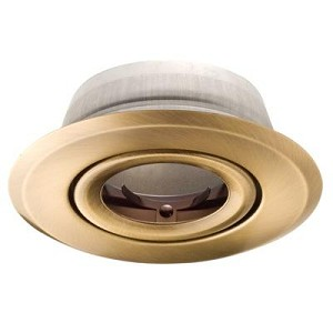 "Richelieu 71520AB Recessed 4"" Trim PAR20 - Antique Brass"