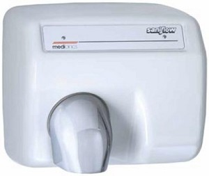 Saniflow E88A Automatic Hand Dryer, White Metal