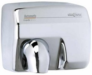 Saniflow E88AC Automatic Hand Dryer, Bright Metal