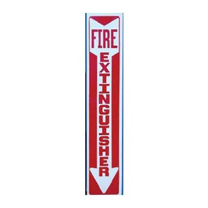 "Strike First 006 Vertical Decal ""Fire Extinguisher"""