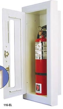 Strike First 116-EL Semi-Recessed Extinguisher Cabinet, Standard