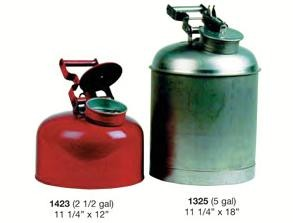 Strike First 1423 Disposal Can Galvanized, 2.5 Gal.