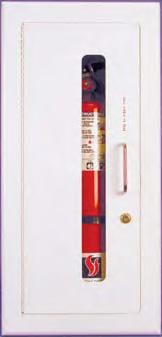 Strike First 518-EL Semi-Recessed Extinguisher Cabinet, Safeguard Standard