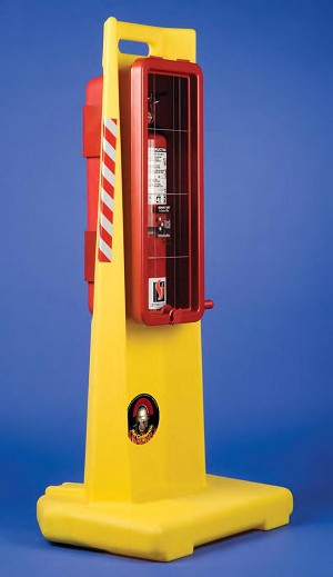 Strike First CENTURION-20 Portable Fire Extinguisher Stand, Pallet