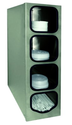 Tomlinson 1019768 SS Combination Cabinet Dispensers