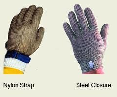 Tomlinson 1036468 Metal Mesh Gloves, All Steel Closure, Large