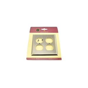 Baldwin 4771050 Double Outlet Beveled Switch Plate Antique Brass Finish