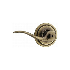 Kwikset 730TNLLH-526 Left Hand Tustin Privacy Door Lock with 6AL Latch and RCS Strike Antique Brass Finish