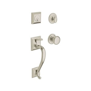 Baldwin 85320150ENTR Madison Sectional Tubular Single Cylinder Handleset Satin Nickel Finish