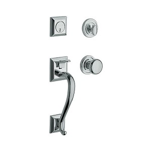 Baldwin 85320260ENTR Madison Sectional Tubular Single Cylinder Handleset Bright Chrome Finish