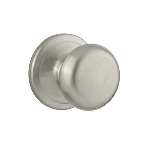 Kwikset CP720J-15 Clear Pack Juno Passage Lock with RCAL Latch and RCS Strike Satin Nickel Finish