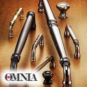 "Omnia 9040/458.3 18"" Center to Center Traditional Cabinet Pull Polished Brass Finish"